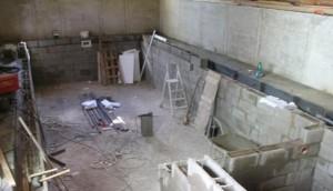 Stavba vnitřního bazénu