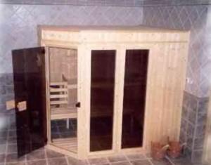 Vnitřní soukromá sauna